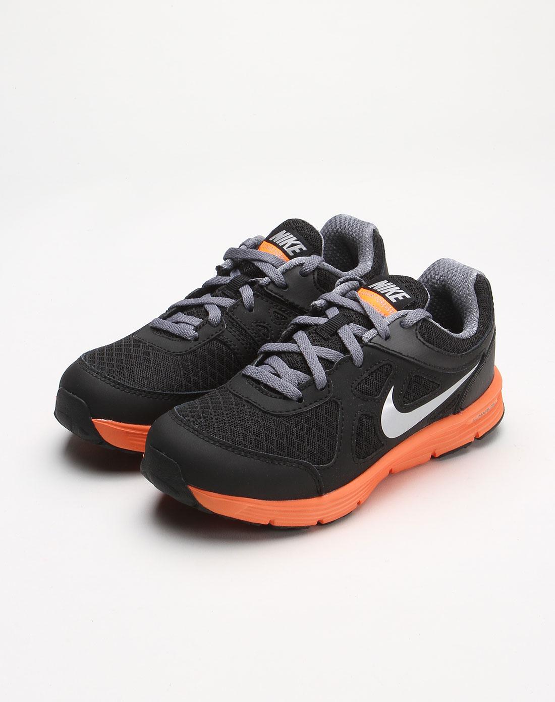 耐克nike-童装儿童黑色透气运动鞋488272-003