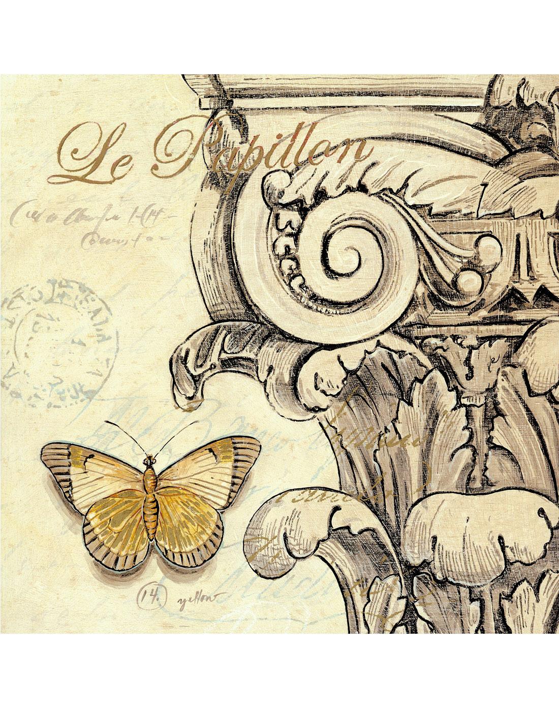 30*30cm欧式风格蝴蝶有框画a
