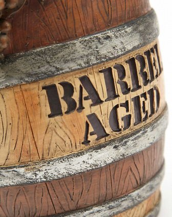 evergreen家居用品专场复古酒桶树脂红酒架2bhs3459