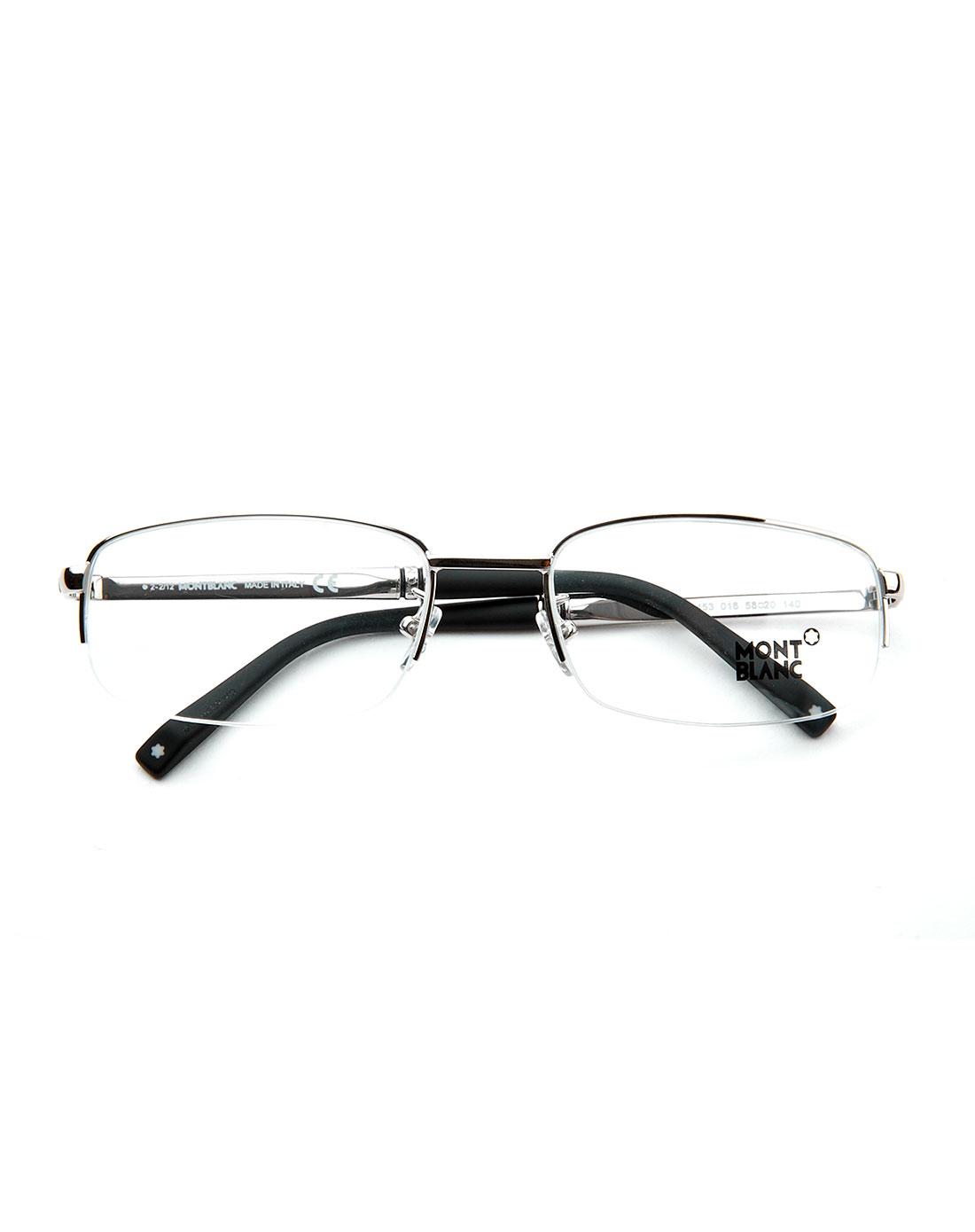 时尚休闲银色半框光学眼镜