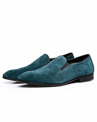 闲深蓝色皮鞋x0201i1