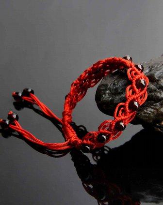 一生一石o-stone石榴石纯手工编绳嵌珠手链(附证书)