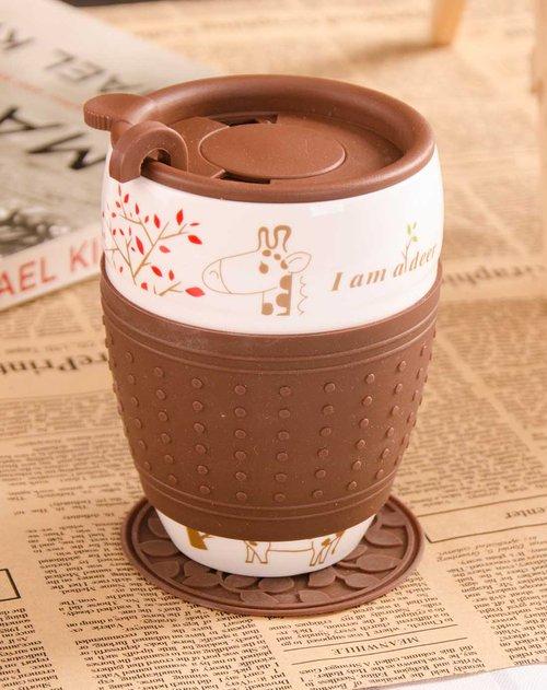 卡通咖啡杯(长颈鹿)