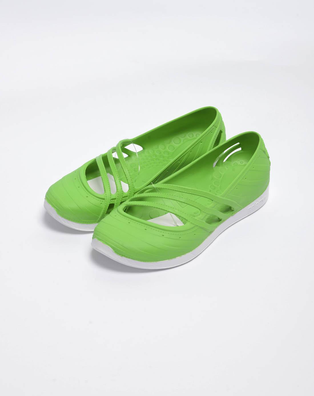 阿迪达斯adidas女子绿色凉鞋u45364