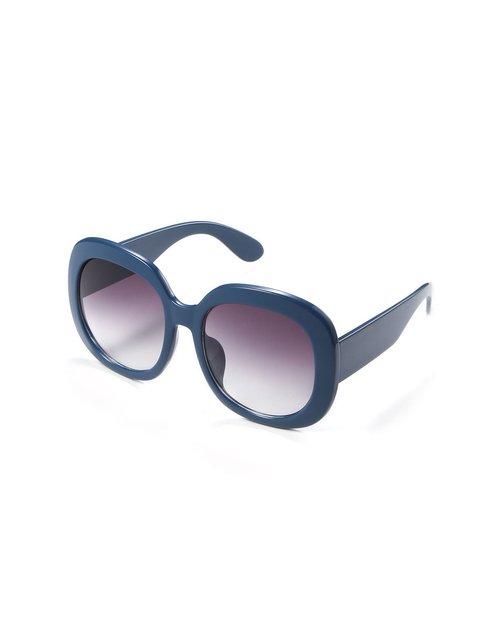 b&balos 时尚厚镜框镜脚蓝色太阳眼镜