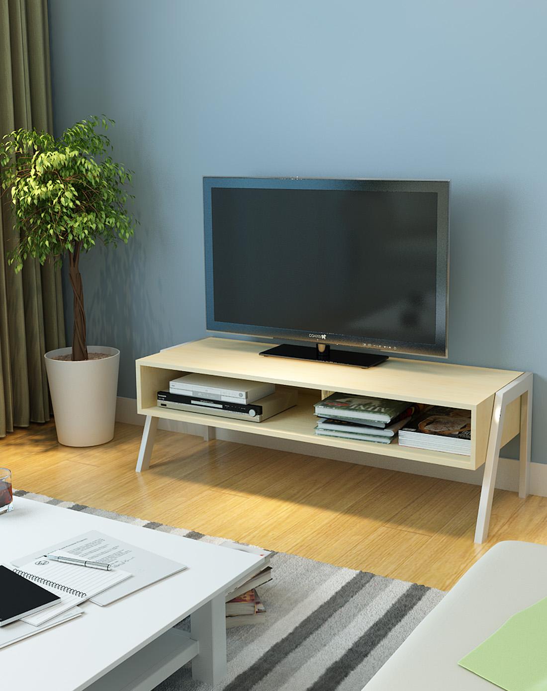 创意木质电视柜 木纹色