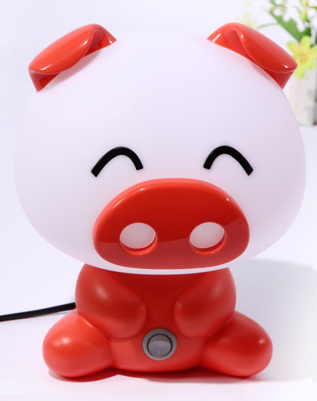 红色可爱猪台灯
