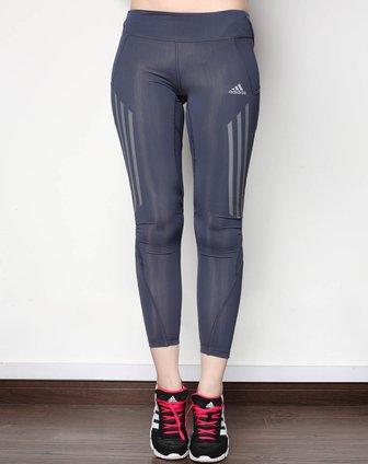 阿迪达斯adidas女子藏青九分裤w51691