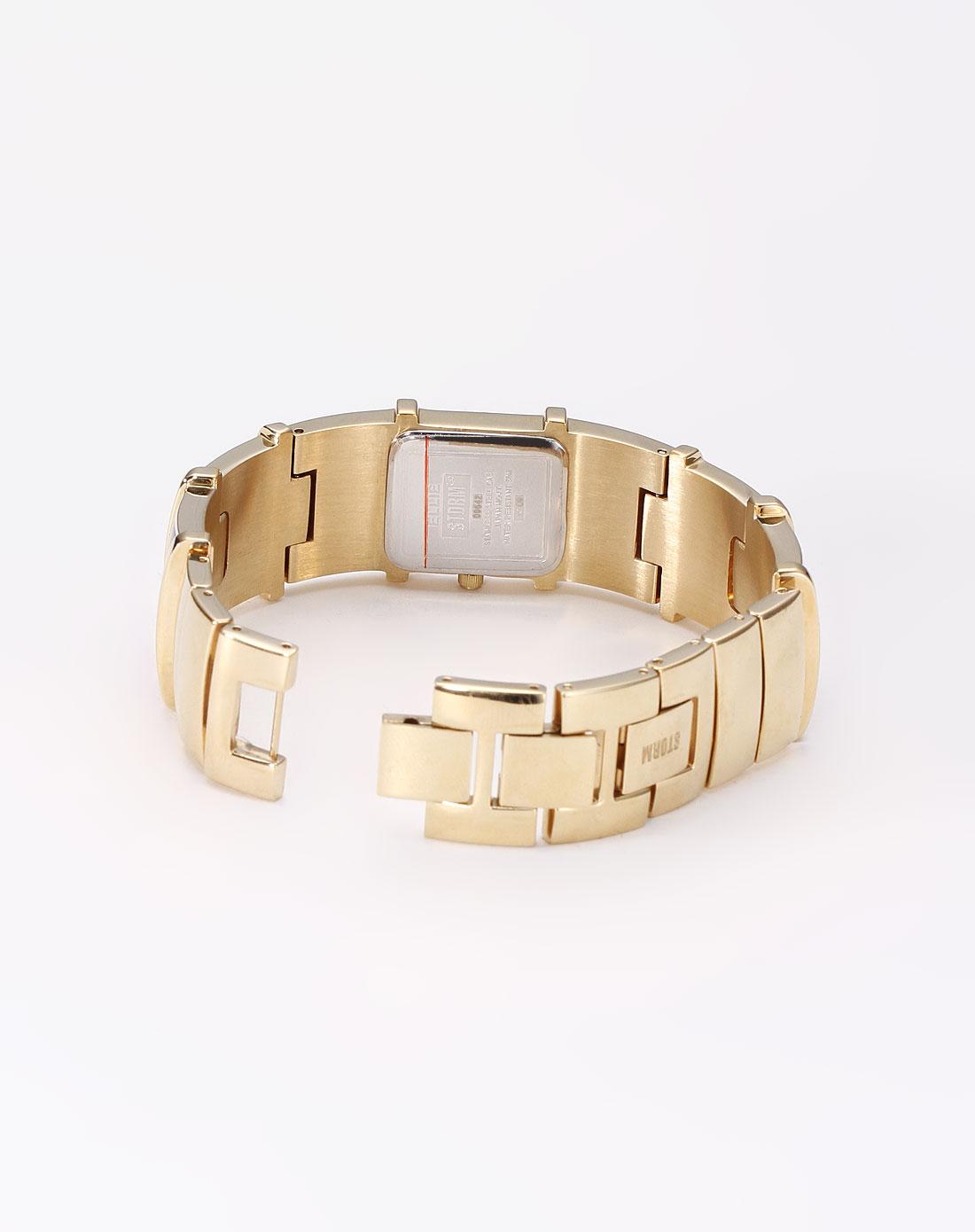 女性褐金色贵族风时尚石英手表