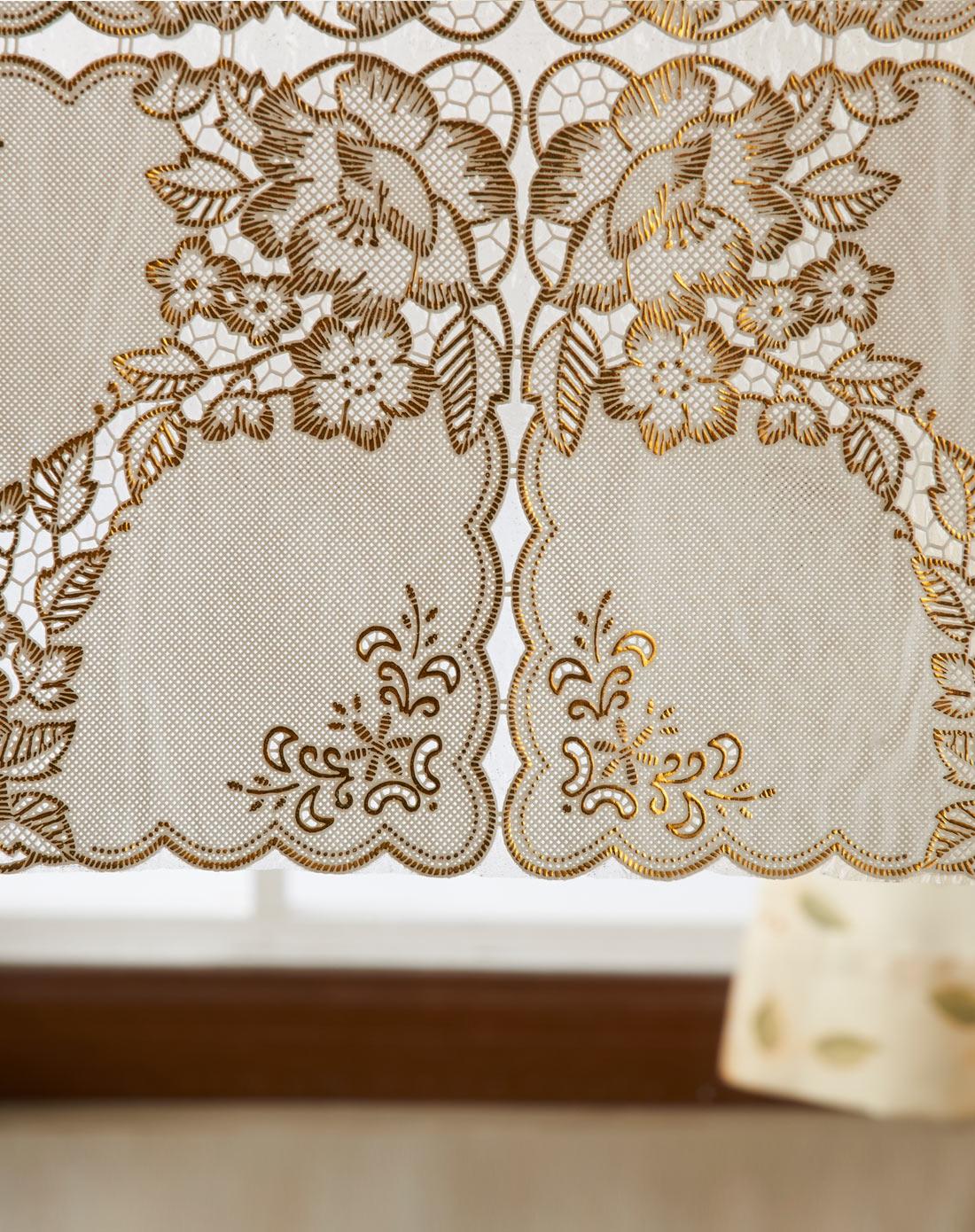 欧式奢华蕾丝印花烫金桌布
