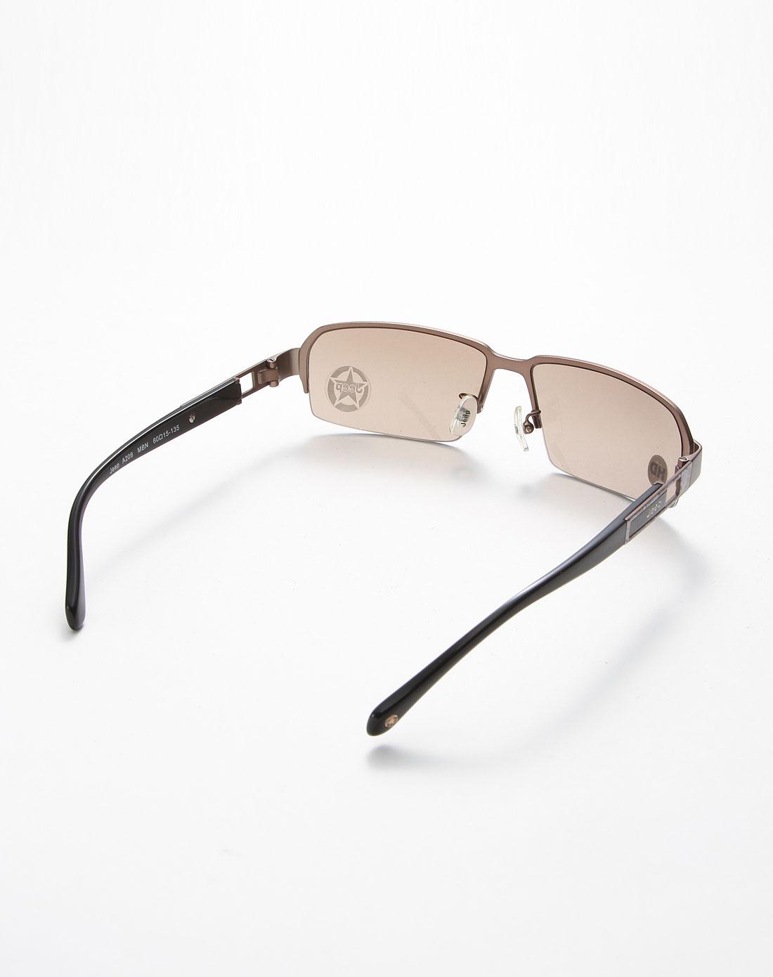 jeep太阳眼镜专场男款成熟大气金属半框太阳眼镜黑