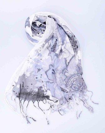 抽象泼墨画围巾
