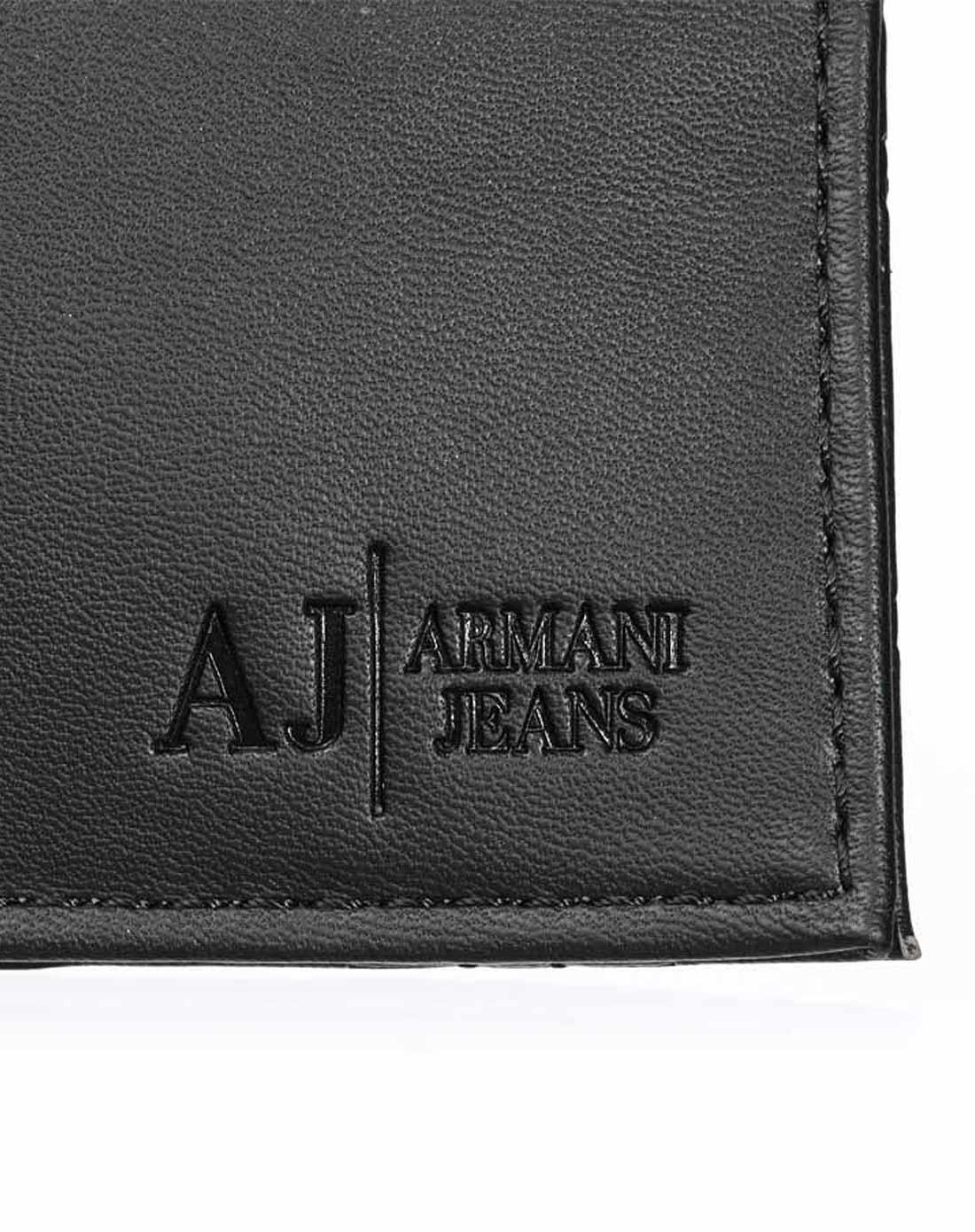 armani jeans logo压花男士钱包