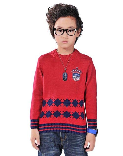 童�j�Z螊8^Y_米拉熊 男中童橙色加绒衬衫