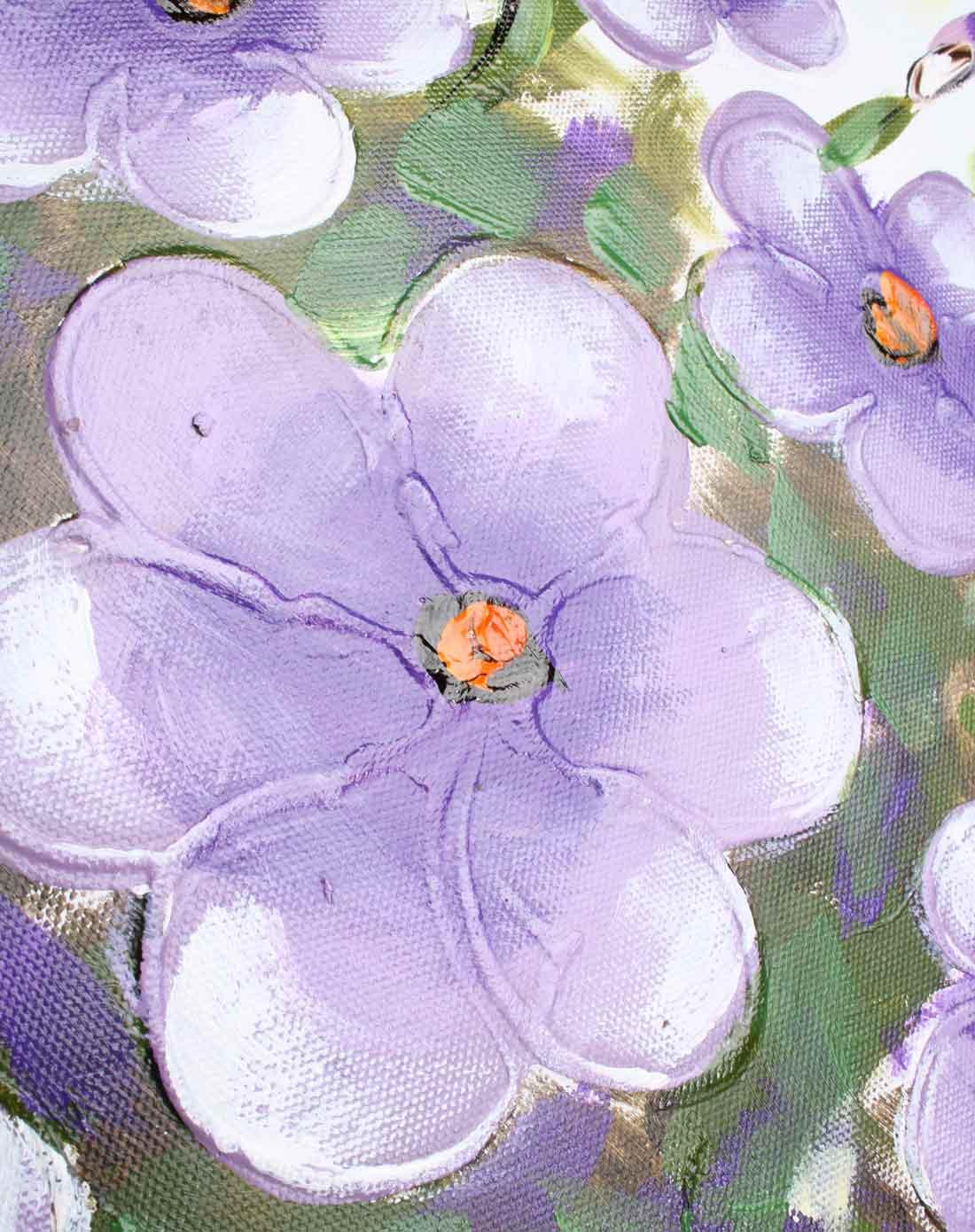 手绘油画-紫色金玉满堂
