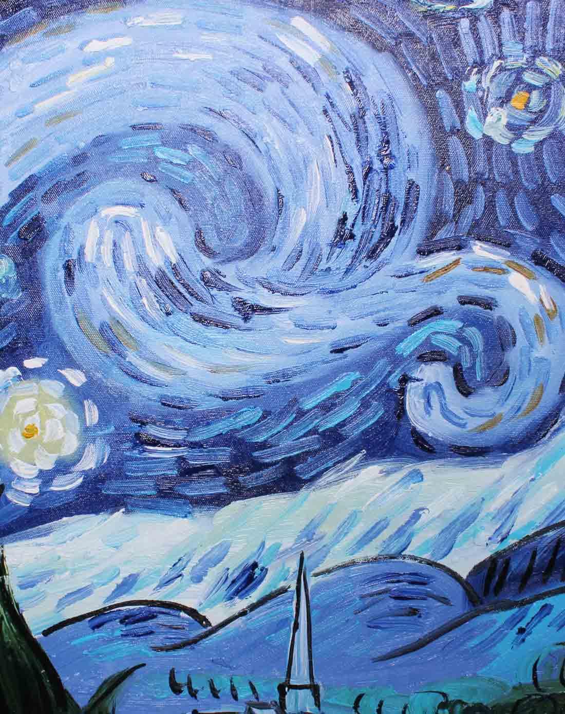 雅工坊手绘油画-梵高星夜
