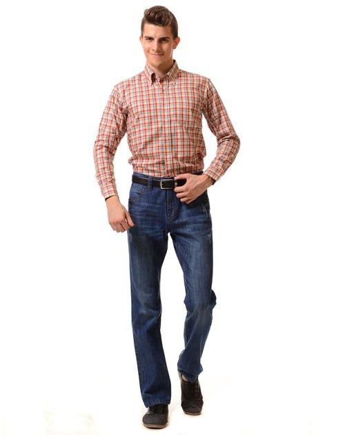 george beffry 男款彩格高支丝光棉长袖衬衫