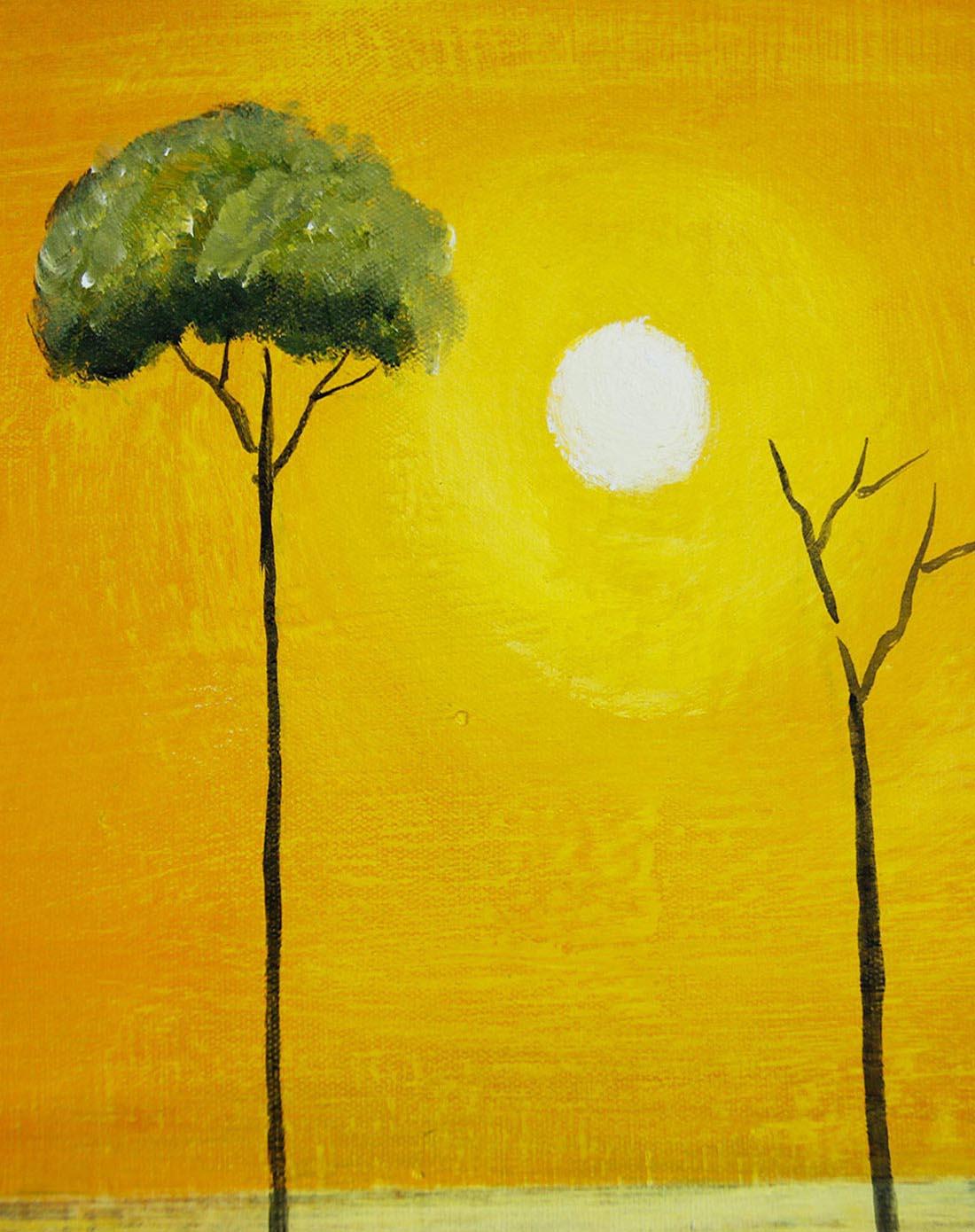 宜生活 《树之倒影》纯手绘油画