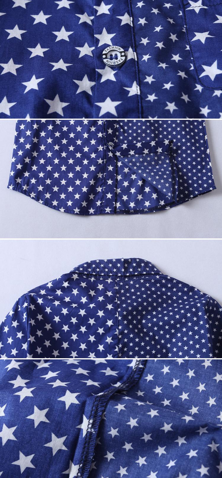商品名称: 男童深蓝色衬衫 商品分类: 儿童衬衫 产地: 浙江 材质