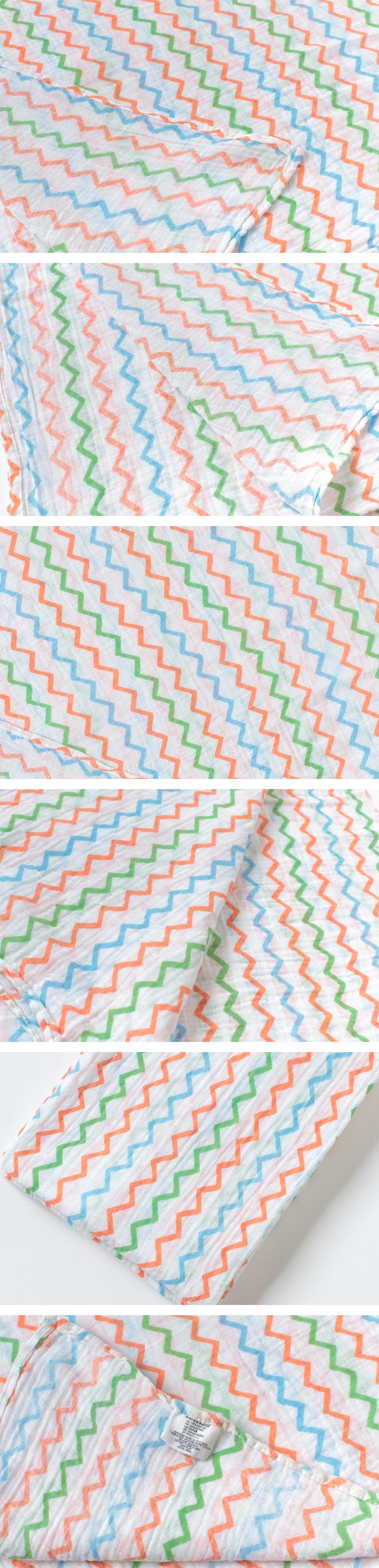 中性彩虹波浪印花毯子