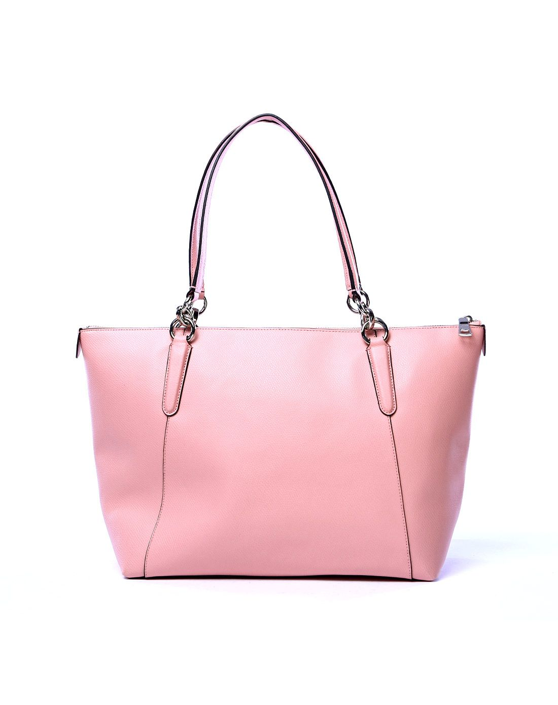coach女士粉色纯皮饺子包