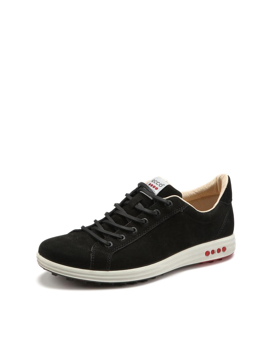 ECCO男款黑色简约街头系带休闲鞋