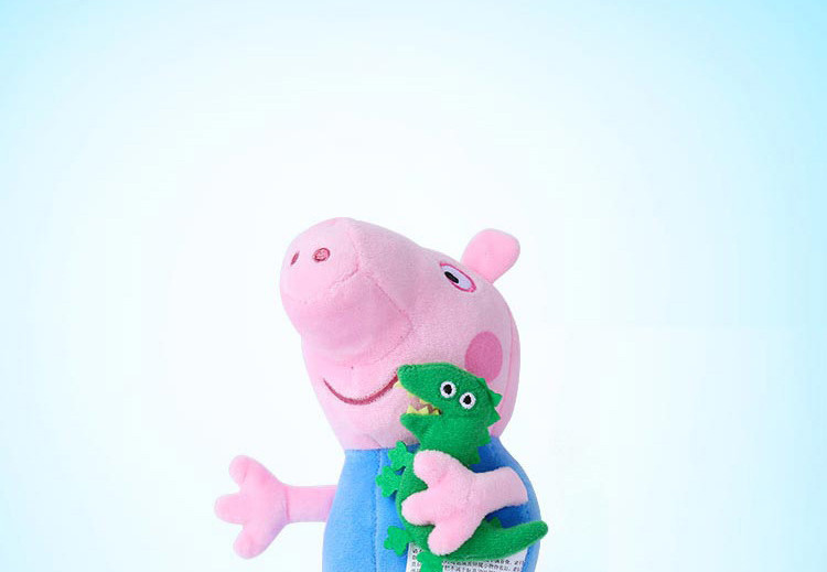 了,小猪乔治好着急 粉红猪小妹小猪佩奇佩佩猪爸爸妈妈打开健达奇
