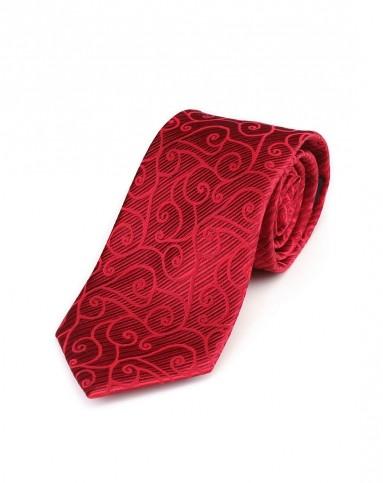红/深红色花纹魅力领带