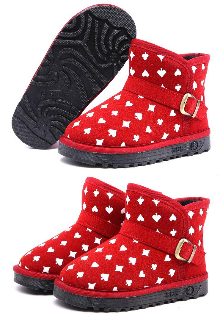 红色可爱韩版保暖靴子