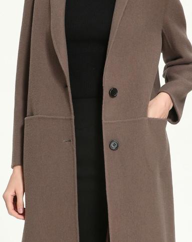 手工羊毛双面呢大衣