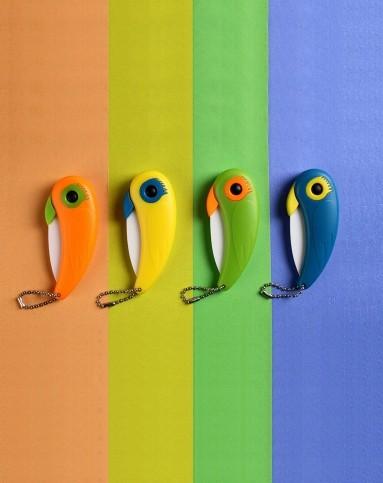 (多色)可爱鹦鹉陶瓷刀