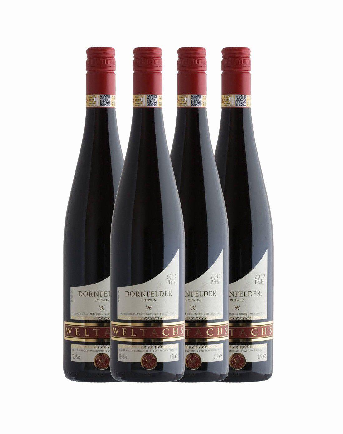 维特思 丹菲红葡萄酒750ml *4图片