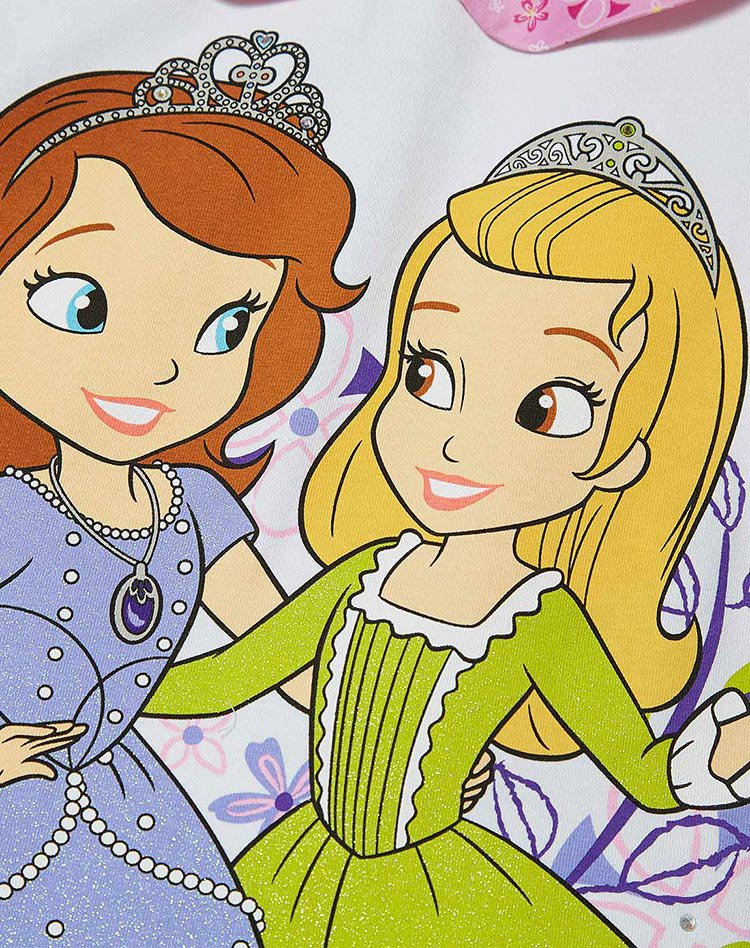 迪士尼公主系列白色女童套装