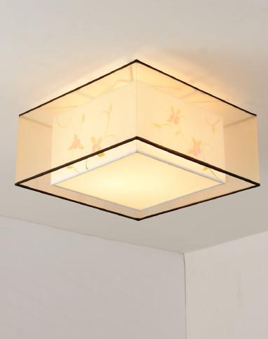 新中式手绘方形吸顶灯