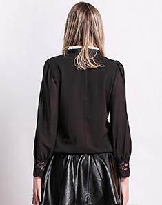 蕾丝打底衫黑色