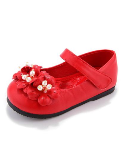 红色女宝可爱小皮鞋