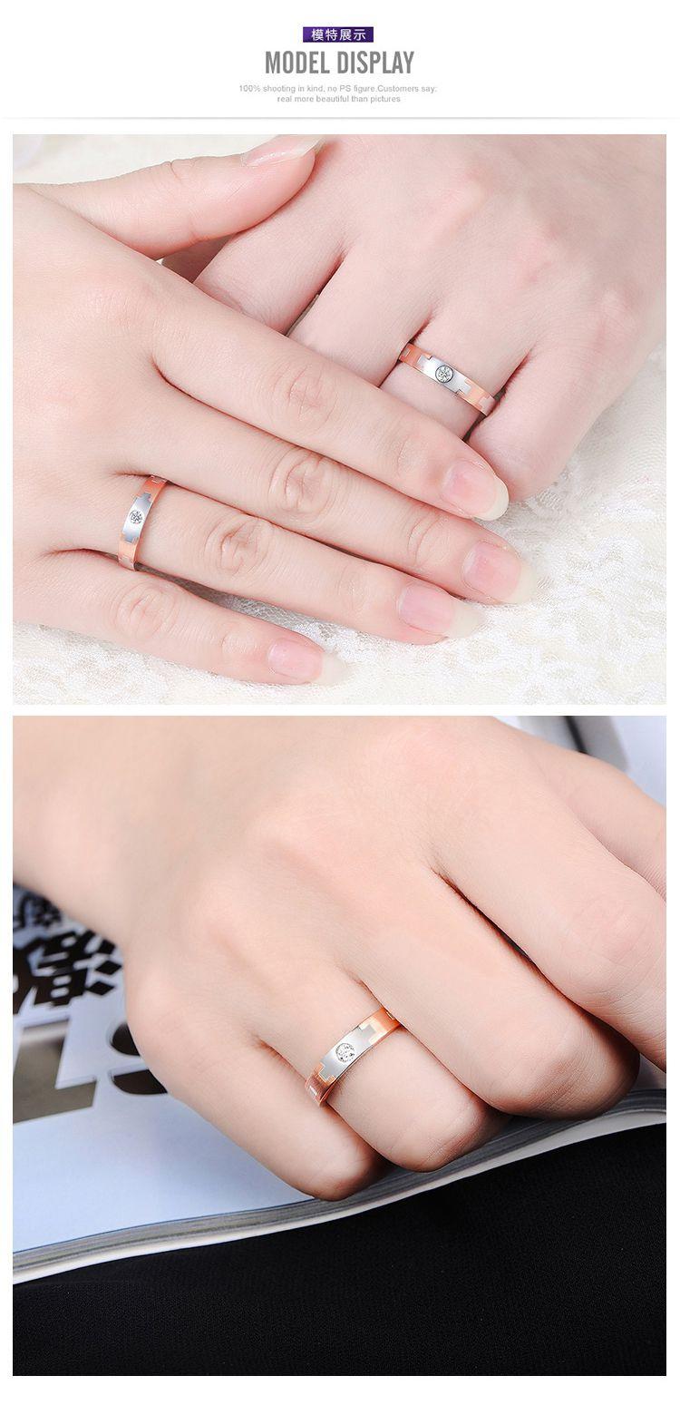 谢瑞麟 18k金atelier欧式情侣对戒钻石戒指男款