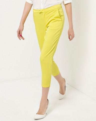 黄色分割线紧身裤
