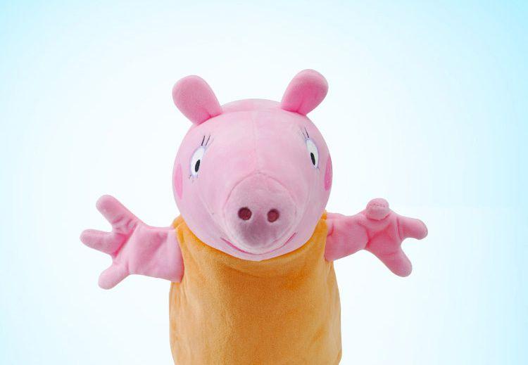 婴幼儿安抚毛绒玩具动画角色模拟手偶猪妈  品牌名称: 小猪佩奇 商品