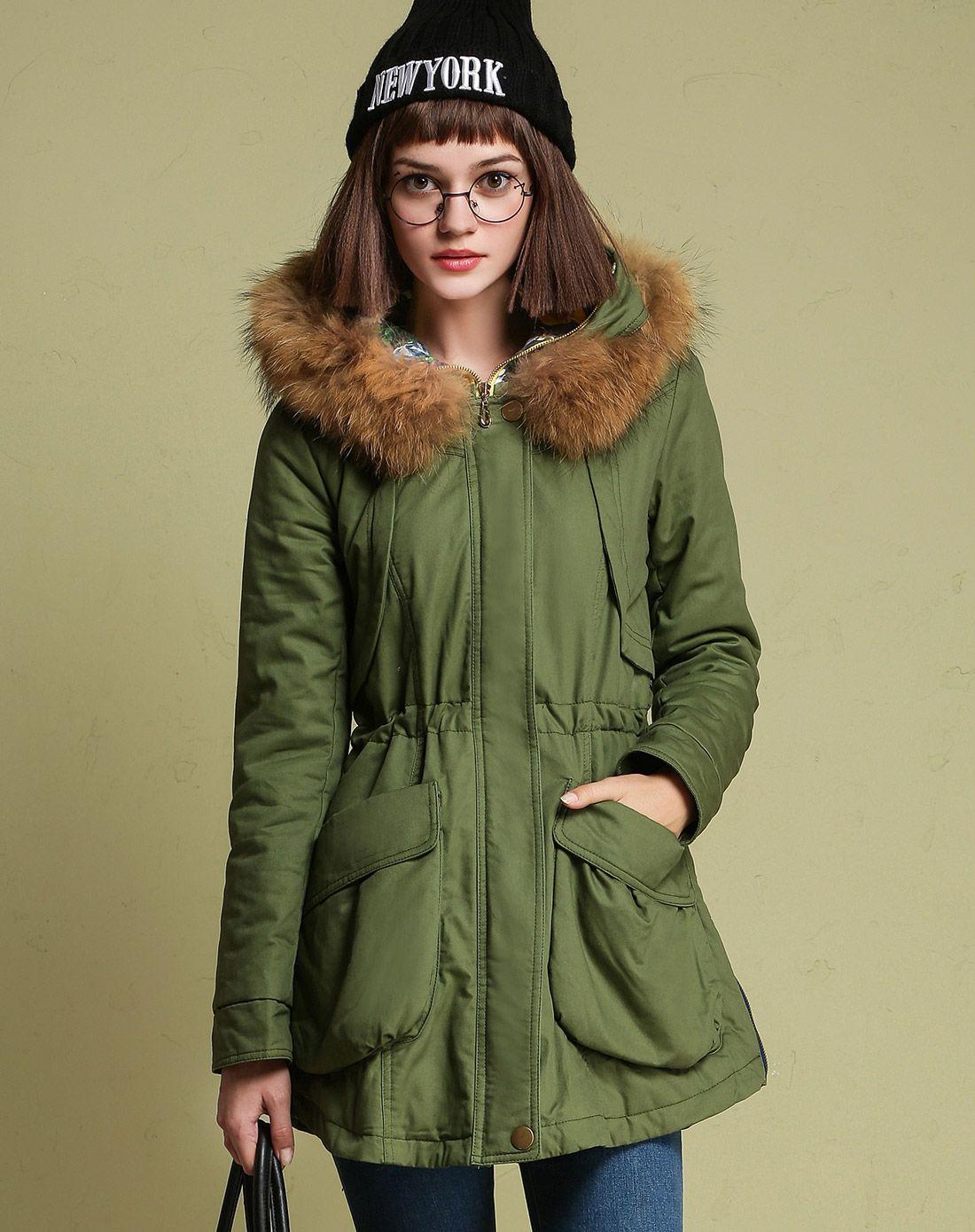 军绿色外套女韩国