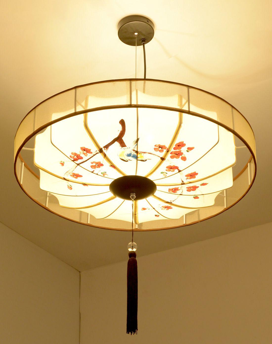 新中式手绘灯笼吊灯