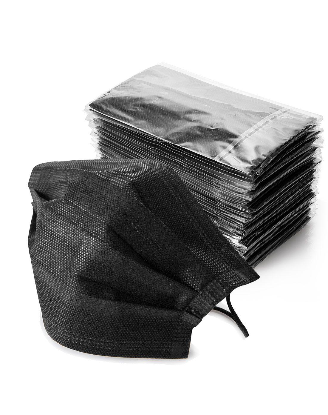 jm居家良品防粉尘雾霾透气防晒一次性活性炭口罩(50入-黑色)