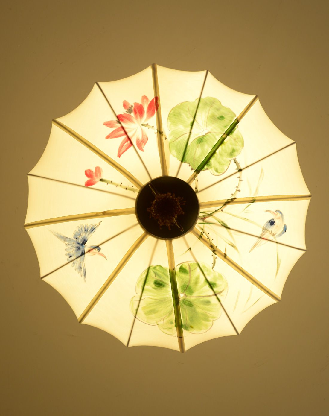 新中式手绘圆形吊灯