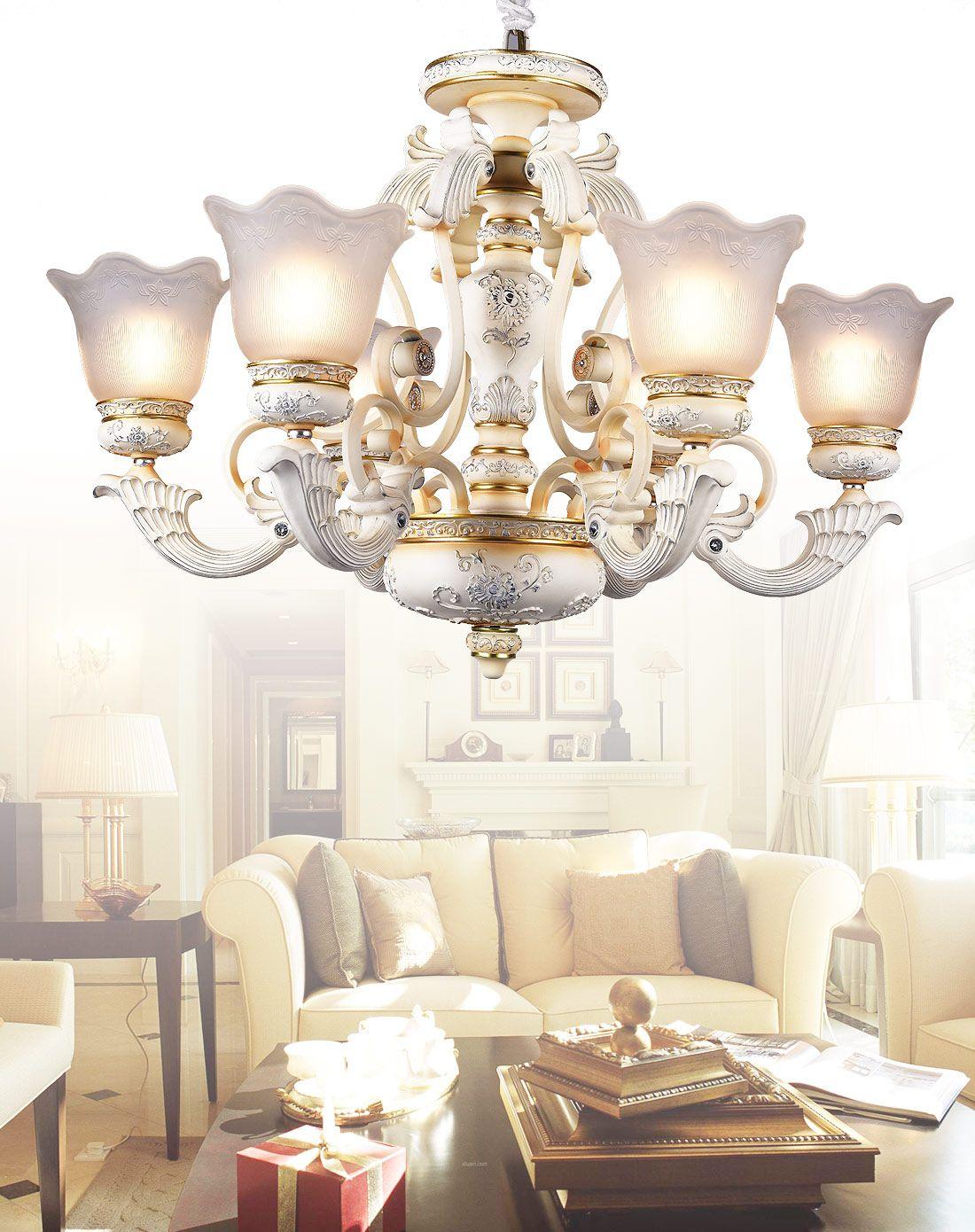 6头欧式客厅卧室吊灯