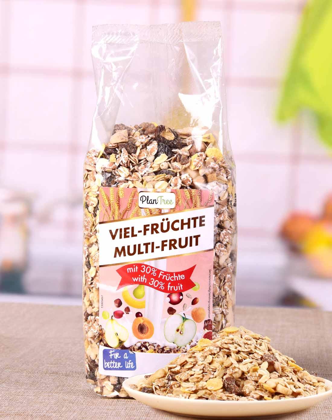 丰富水果干 德国进口 保罗森 水果麦片500g