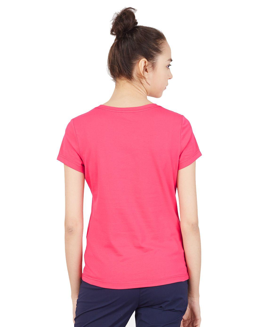 宽松图案红t恤女