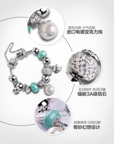 奥罗拉时尚彩泥葫芦转运珠创意串珠手链