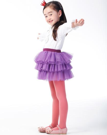 女童紫罗兰色可爱公主风蛋糕纱裙