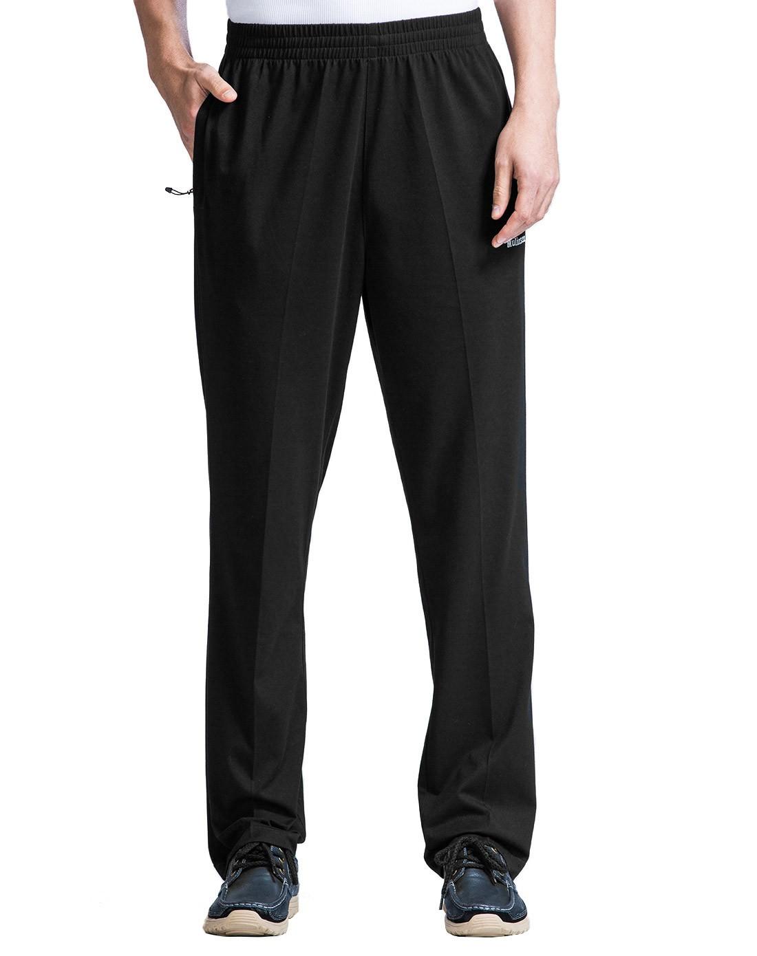 时尚运动 男款黑色运动裤 休闲大方