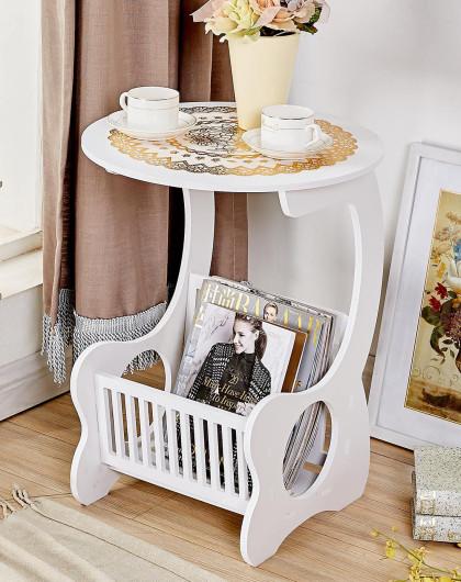 书报圆汽车杂志架边桌白色架v书报茶几颈枕图片